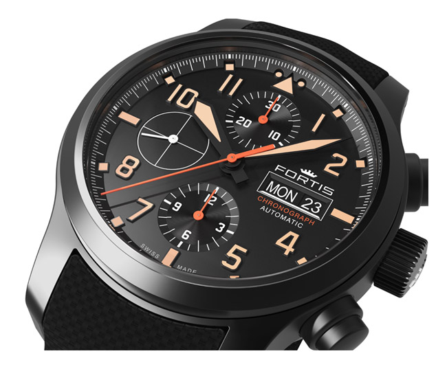 Fortis 656.18.18 Aeromaster Stealth Chronograph Basel 2016 Preview