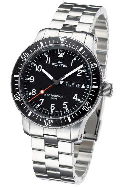 Fortis Mens 647.10.11 M B-42 Official Cosmonauts Day/Date Watch