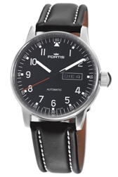 Fortis Mens 595.22.41.L.01 Pilot Professional Black Dial Watch