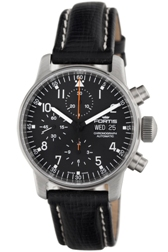 Fortis Mens 597.22.11.L Pilot Professional Black Dial Chronograph Watch