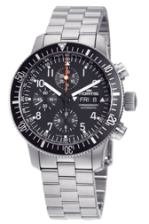Fortis Mens 638.10.11.M B-42 Official Cosmonaut Black Dial Chronograph Watch