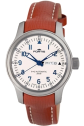Fortis Mens 645.10.12.L.08 B-42 Flieger Automatic White Dial Watch