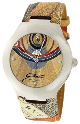 Gattinoni Ladies 102679SA13-44B Maia Planetarium Textured Leather Band Watch