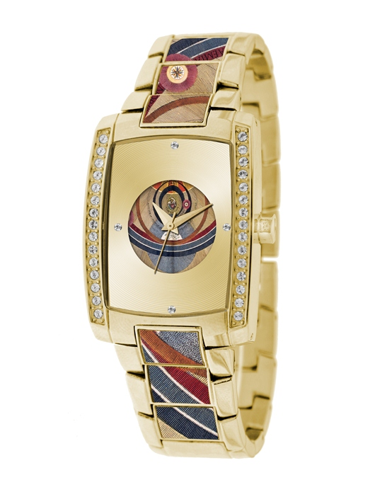 Gattinoni Ladies W0224BGGCHM Norma Gold IP Planetarium Bracelet Watch
