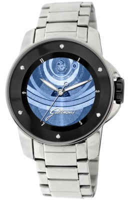 Gattinoni Mens W0195JSSBLU Draco Collection Blue Planetarium Pattern Dial with Luminous Hands Watch