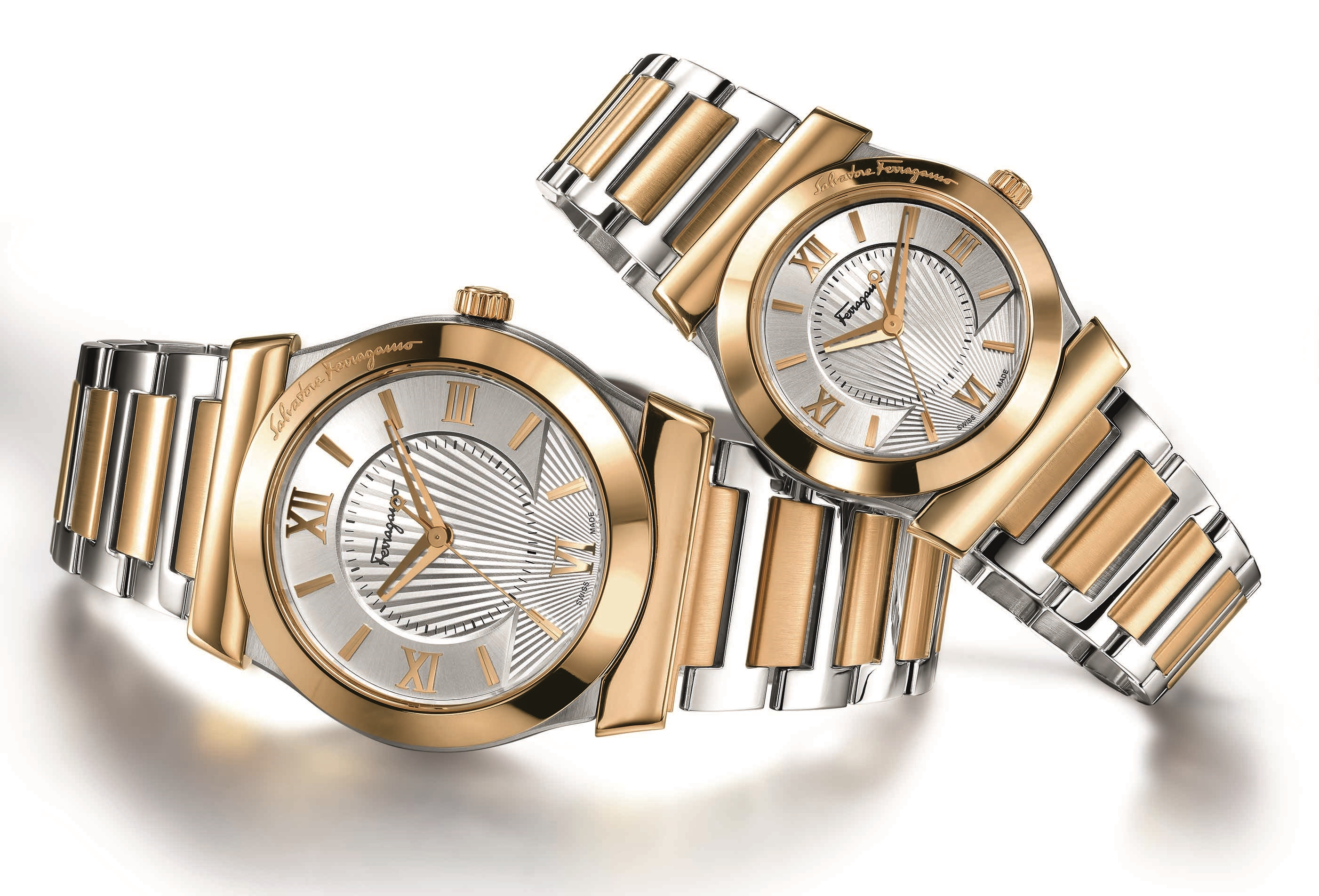 Ferragamo Vega Two-Tone Watches