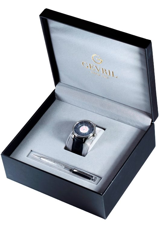 Gevril Columbus Circle Box with Pen and Watch
