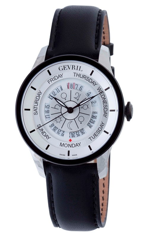 Gevril Mens 2002 Columbus Circle Astrological Symbols Dial Automatic Watch