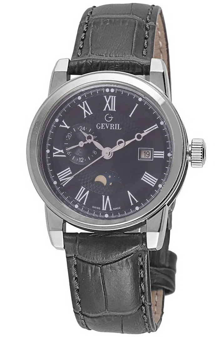 moon phase gevril cortland watch collection watch brands
