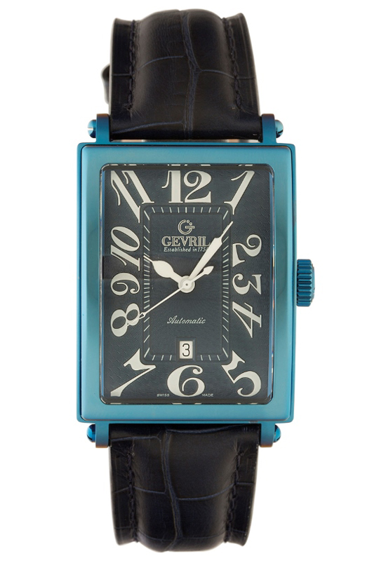 Gevril Mens 5006A Avenue of Americas Limited Edition Blue PVD Automatic Watch