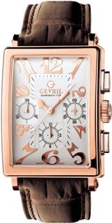 Gevril Mens 5110 Avenue of Americas Limited Edition Rose Gold Chronograph Watch