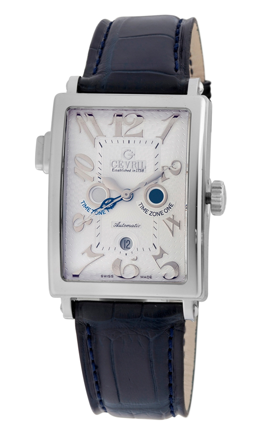 Gevril Mens 5850 Serenade Time Zone Date Automatic Watch
