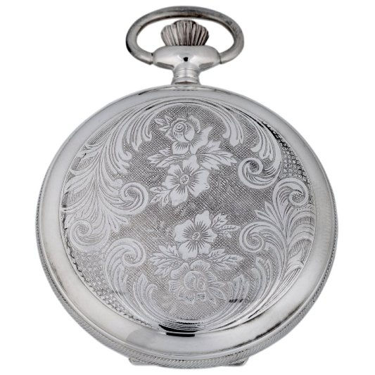 Gevril Mens G680.021.25 1758 Collection Mechanical Hand Wind White Dial Swiss Pocket Watch - Back View