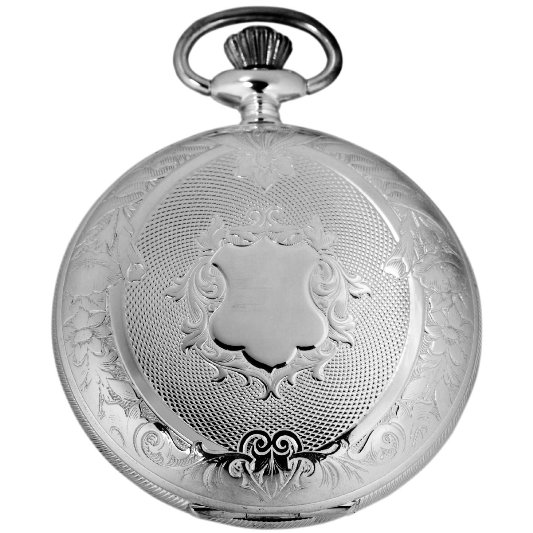Gevril Mens G680.021.25 1758 Collection Mechanical Hand Wind White Dial Swiss Pocket Watch - Front View