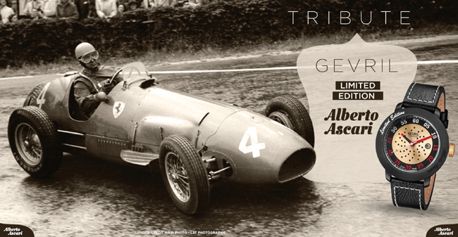 Gevril Tribute to Car Racing Legend Alberto Ascari