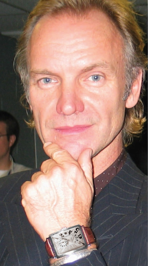 Sting Sporting His Gevril Watch