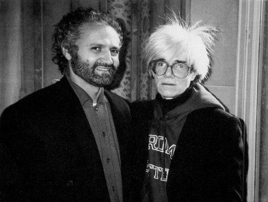 Gianni Versace and Andy Warhol