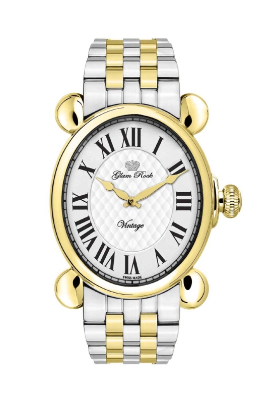 Glam Rock GR28031 Vintage Glam Two-Tone Watch