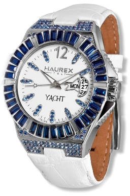 Haurex Ladies 8S340DWB Yacht Lady White Dial Day Date Watch