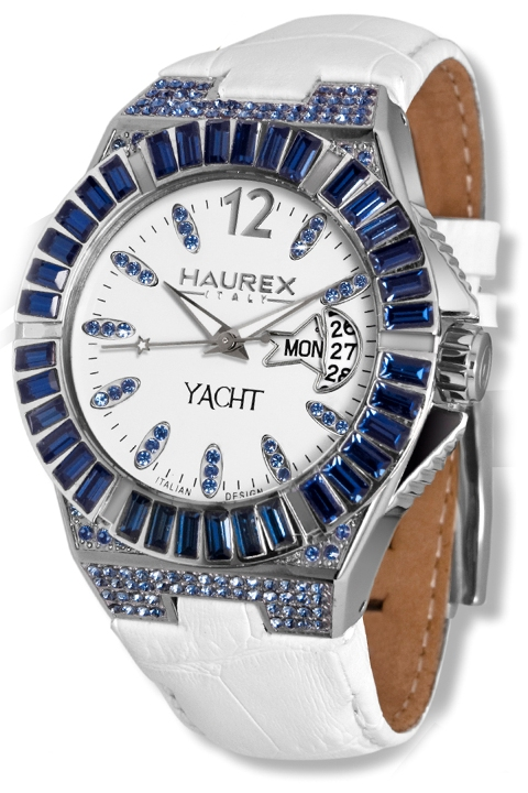 Haurex ladies 8s340dwb yacht lady white dial day date watch fashion watches for Haurex watches