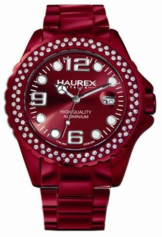 Haurex Ladies XK374DRR INK Stone Collection Red Aluminum Watch