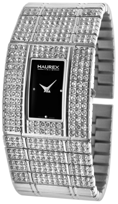 Haurex Ladies XS368DN1 HONEY Collection Swarovski Black Dial Watch