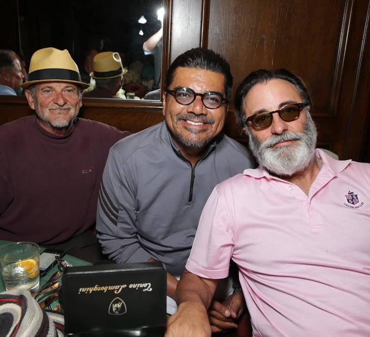 Joe Pesci with Buddies George Lopez and Andy Garcia