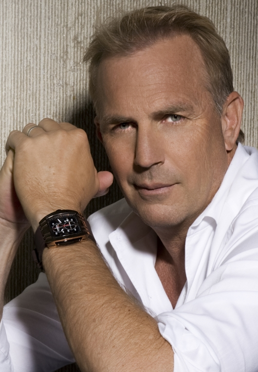 Kevin Costner Wearing Haurex 3R326UMN Men's Mangusta Watch