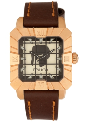 Italico Mens ITGR03-F Gladiatore Collection Square Creamy Yellow Dial Watch