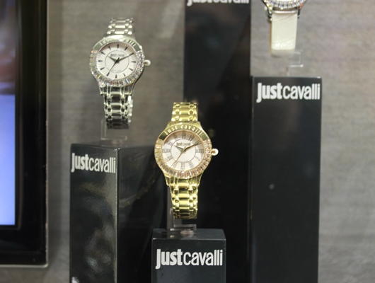 Just Cavalli Luminal Collection Display at Baselworld 2014