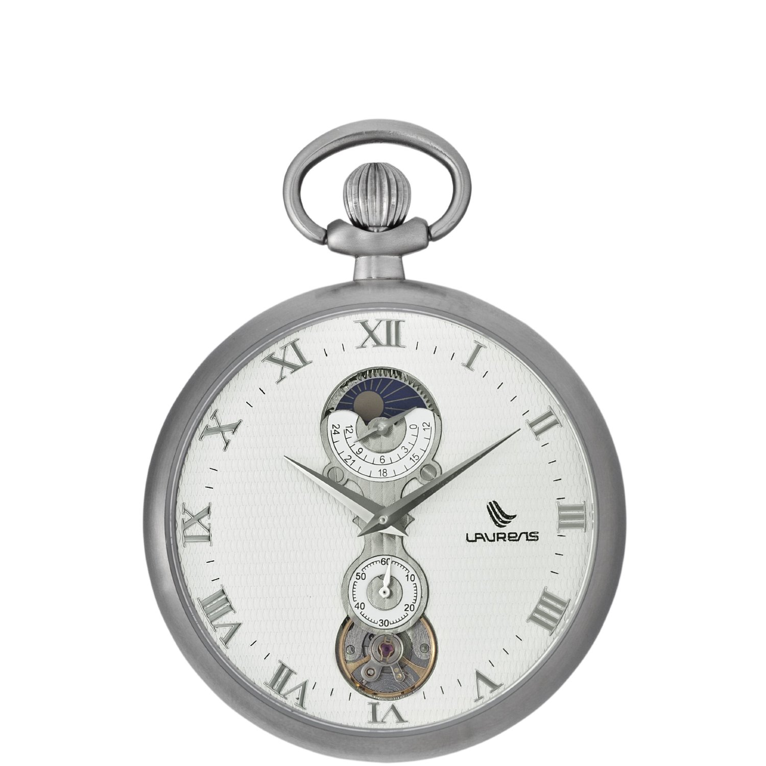 Laurens Mens 025959AA Lepine B Mechanical Moon Phase Pocket Watch