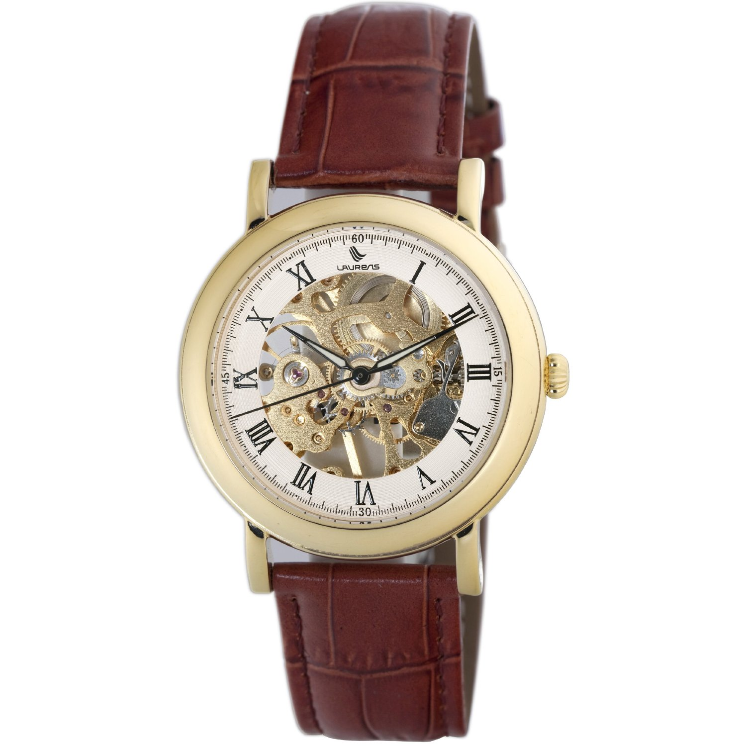 Laurens Mens 026411AA Prestige Skeleton Watch