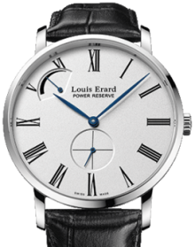 Louis Erard Mens 53 230 AA 11  Excellence Collection Steel Power Reserve Mechanical Hand-Winding Watch