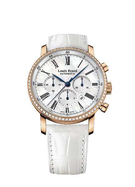 Louis Erard Ladies 84 234 OS 04 Excellence Collection Gold Mechanical Automatic Chronograph Watch