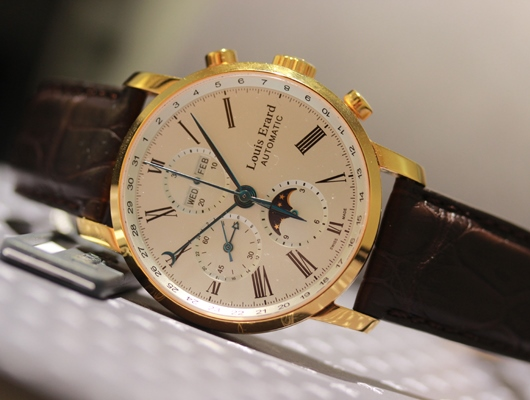 Louis Erard 18K Pink Gold Moon Phase Chronograph