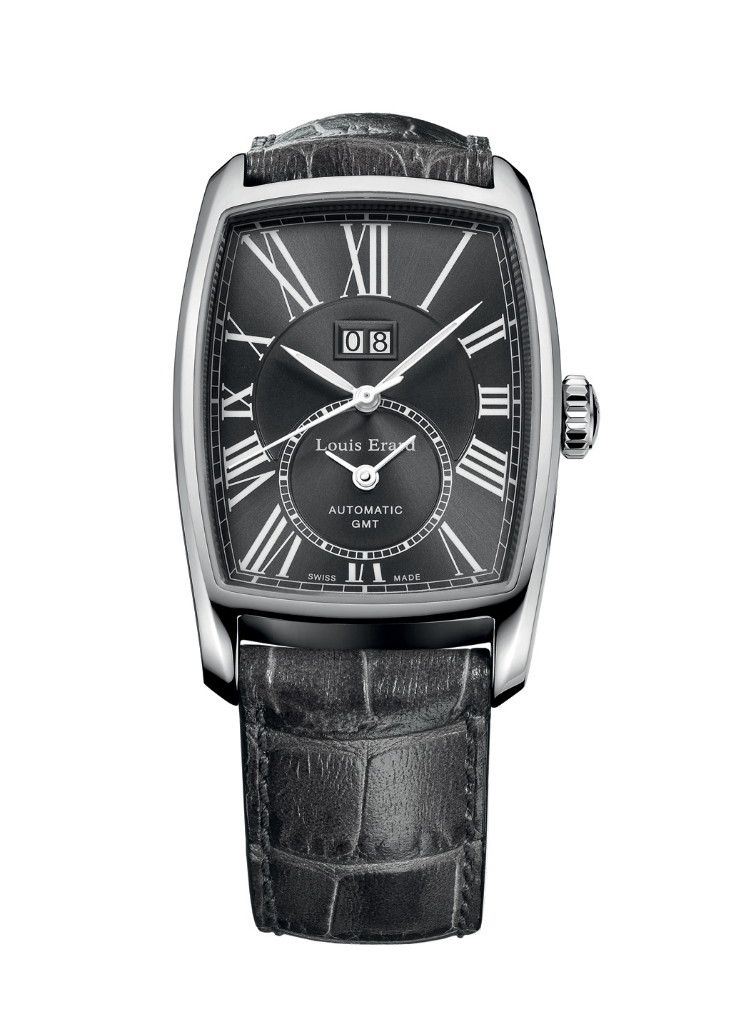 Louis Erard Mens 94210AA23.BDC54 Tonneau GMT Watch ...