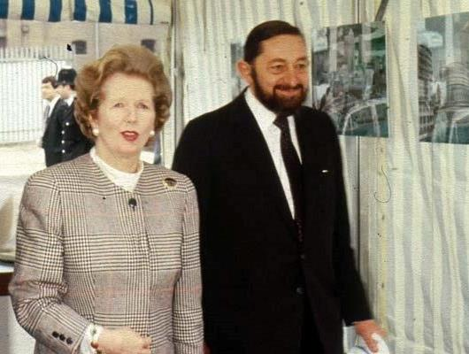 Paul Reichmann and Margaret Thatcher