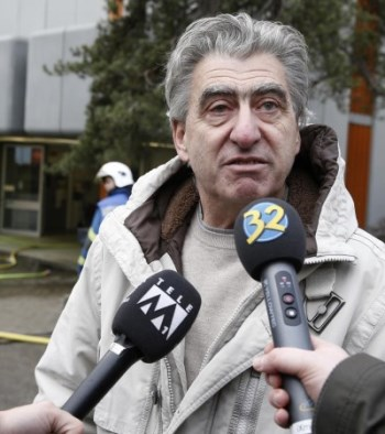 Swatch Group CEO Nick Hayek Addresses the Media Outside the Damaged Workshop