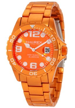 Haurex Ladies7K374DOO INK Orange Aluminum Watch