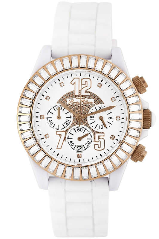 Paris Hilton Ladies 138.5170.60 Chrono Collection Fashion Chronograph Watch