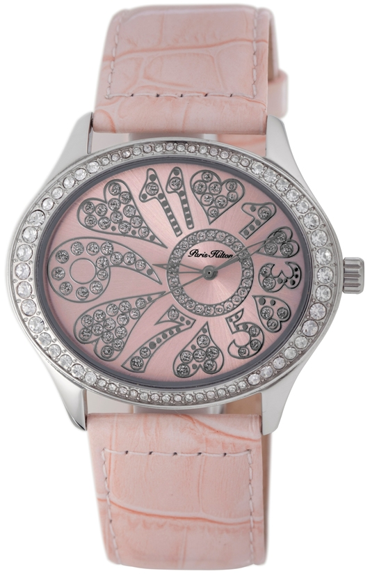 Paris Hilton Ladies 138.5323.60 Oval Collection Pink Dial Fashion Watch
