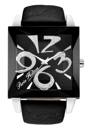 Paris Hilton Ladies 13105MS/02 HOLLYWOOD Black Dial Fashion Watch