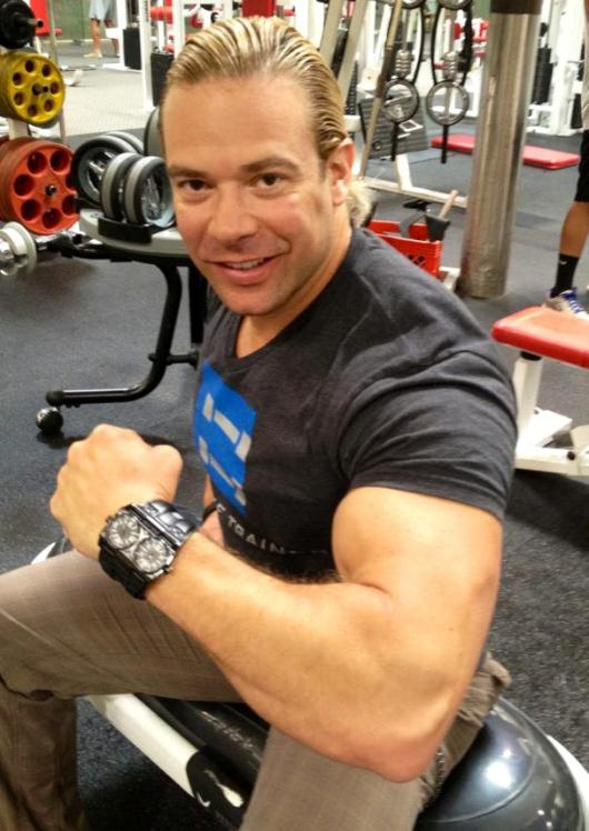 Eric the Trainer Wearing His Police Dominator Watch