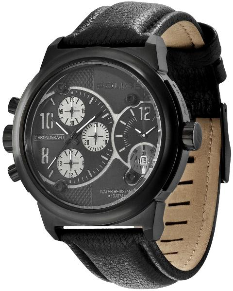 POLICE Mens PL.12739JS/04 Viper Black Dial Chronograph Fashion Watch