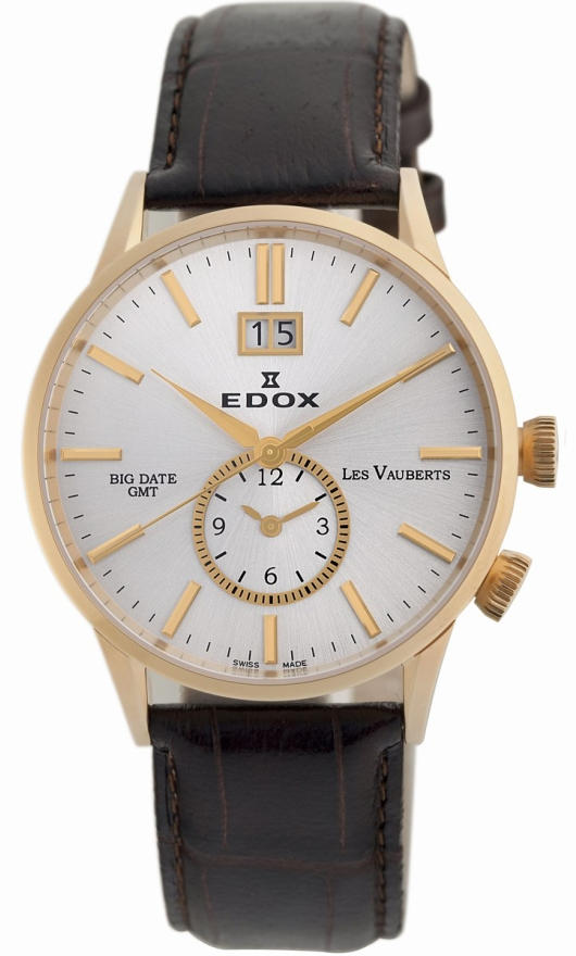 Edox Quartz Watches - 62003 37R AIR Mens Les Vauberts