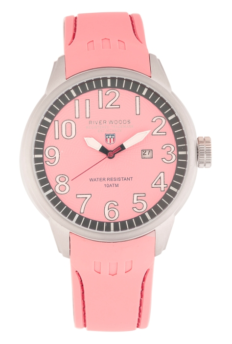 River Woods Ladies RW 5 M PD SCPBL Pink Dial Date Watch