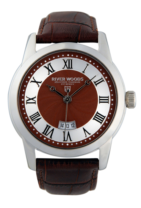 River Woods Mens RW 4 M BRD LBR Brown Dial Date Watch