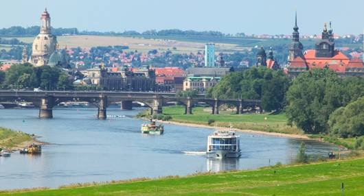 Elbe River Banks, Dresden, Germany