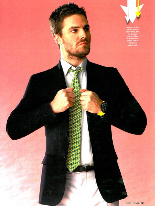 CBS Watch! Stephen Amell Sporting His Ferragamo F-80