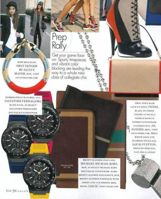 Elle Accessories Magazine, Ferragamo F80